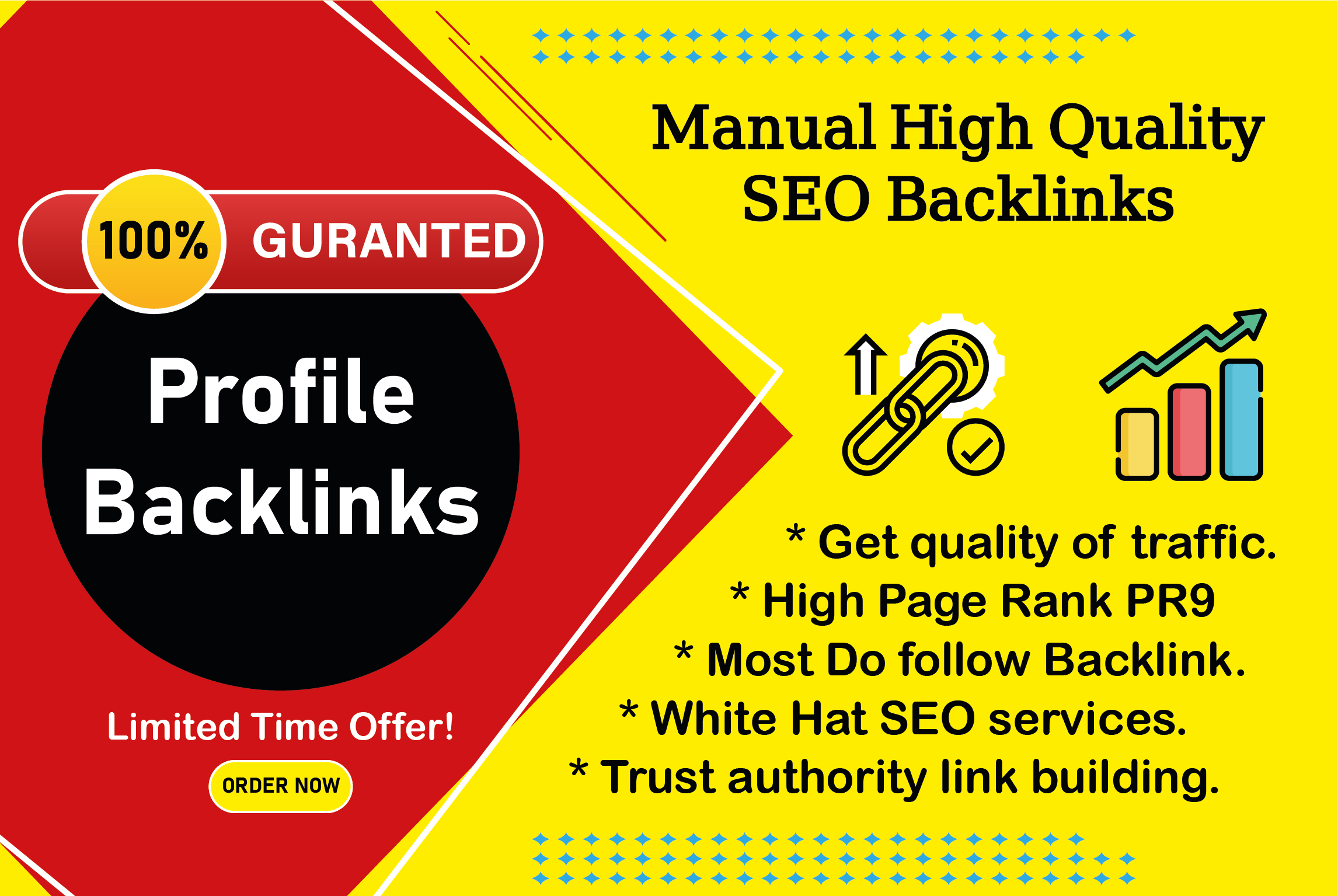 I will provide 50 high authority profile backlinks without spam score