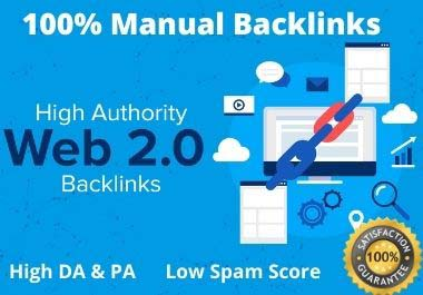 Rank on google first page with 30 high-quality manual web 2.0 backlinks