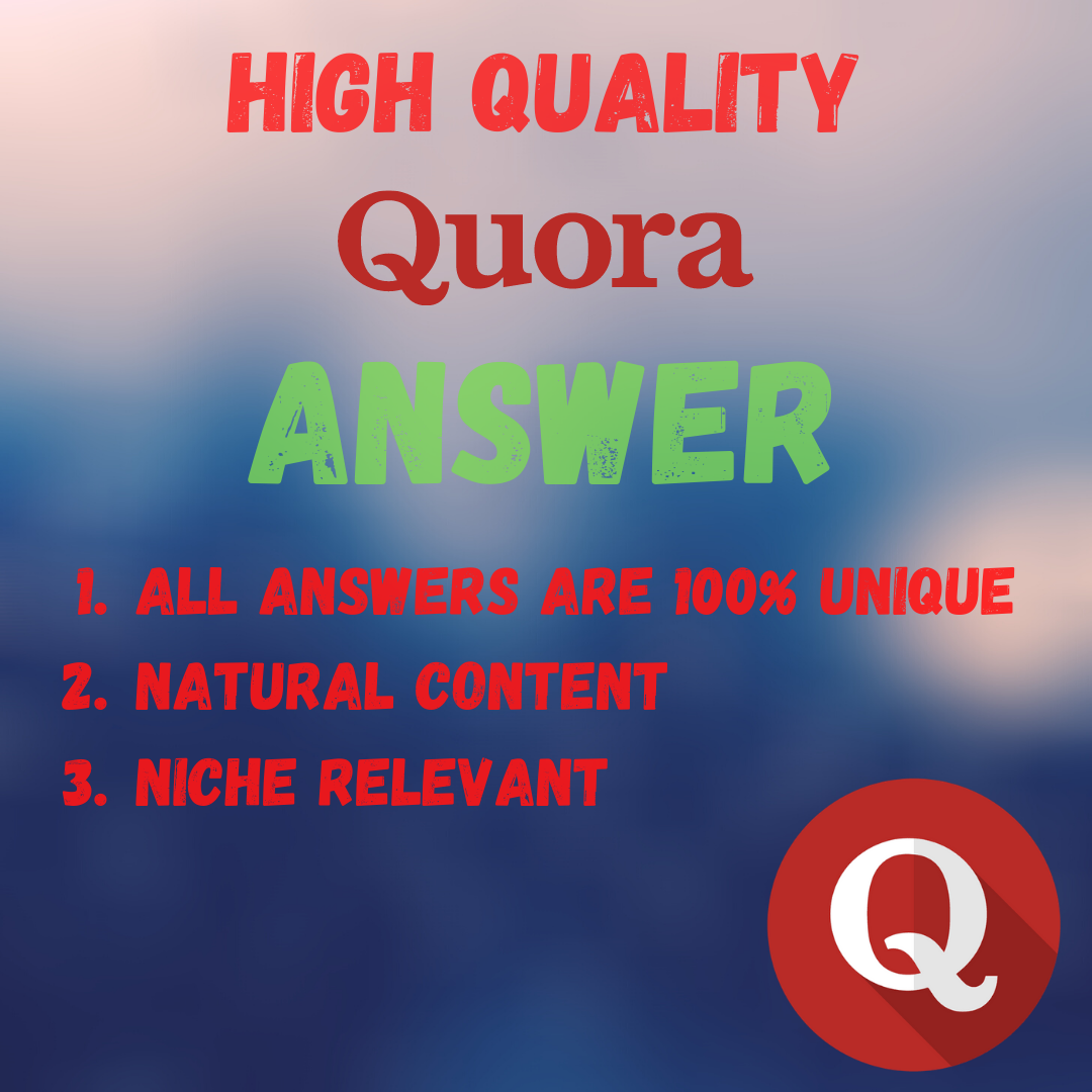 I will Provide 10 High Quality Quora Answer With Backlink