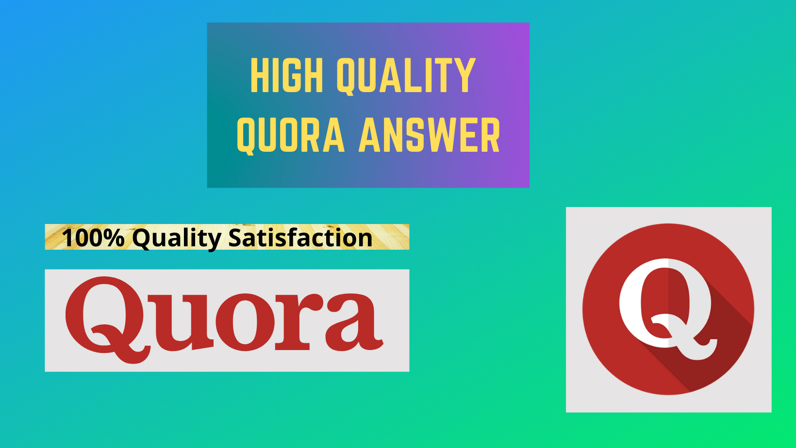 I will Provide 25 High Quality Quora Answer With Backlink