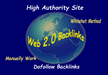 Create manually 25+ high DA web 2.0 backlinks