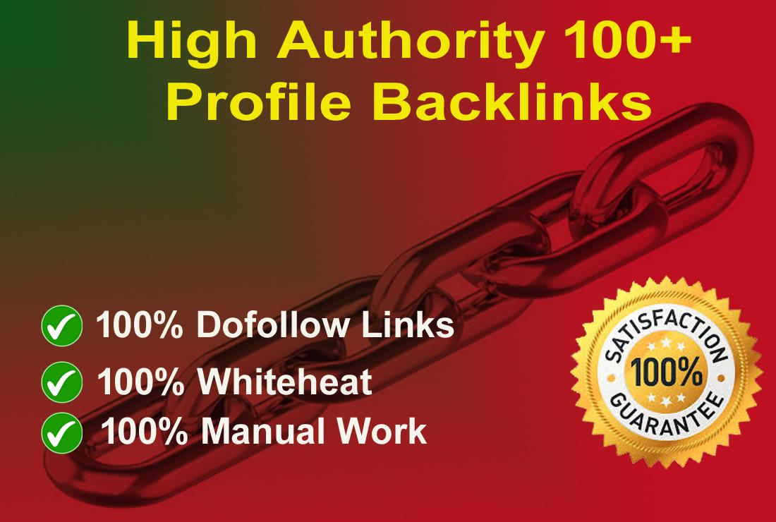 I will create 100+ High Authority Profile Backlinks