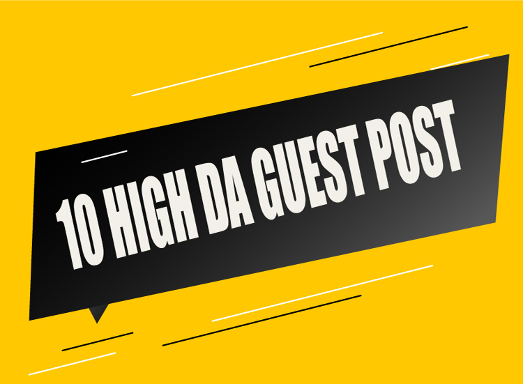 10 high quality guestposts on highda sites.