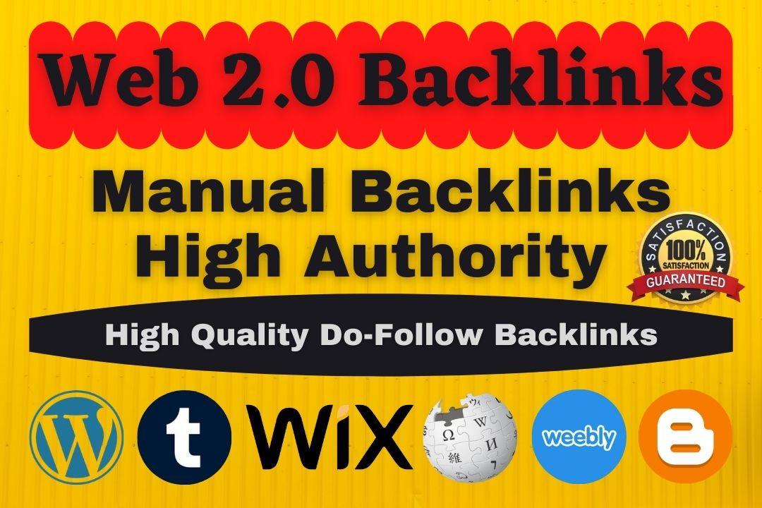 create dofollow high authority 50 web 2.0 backlinks manually