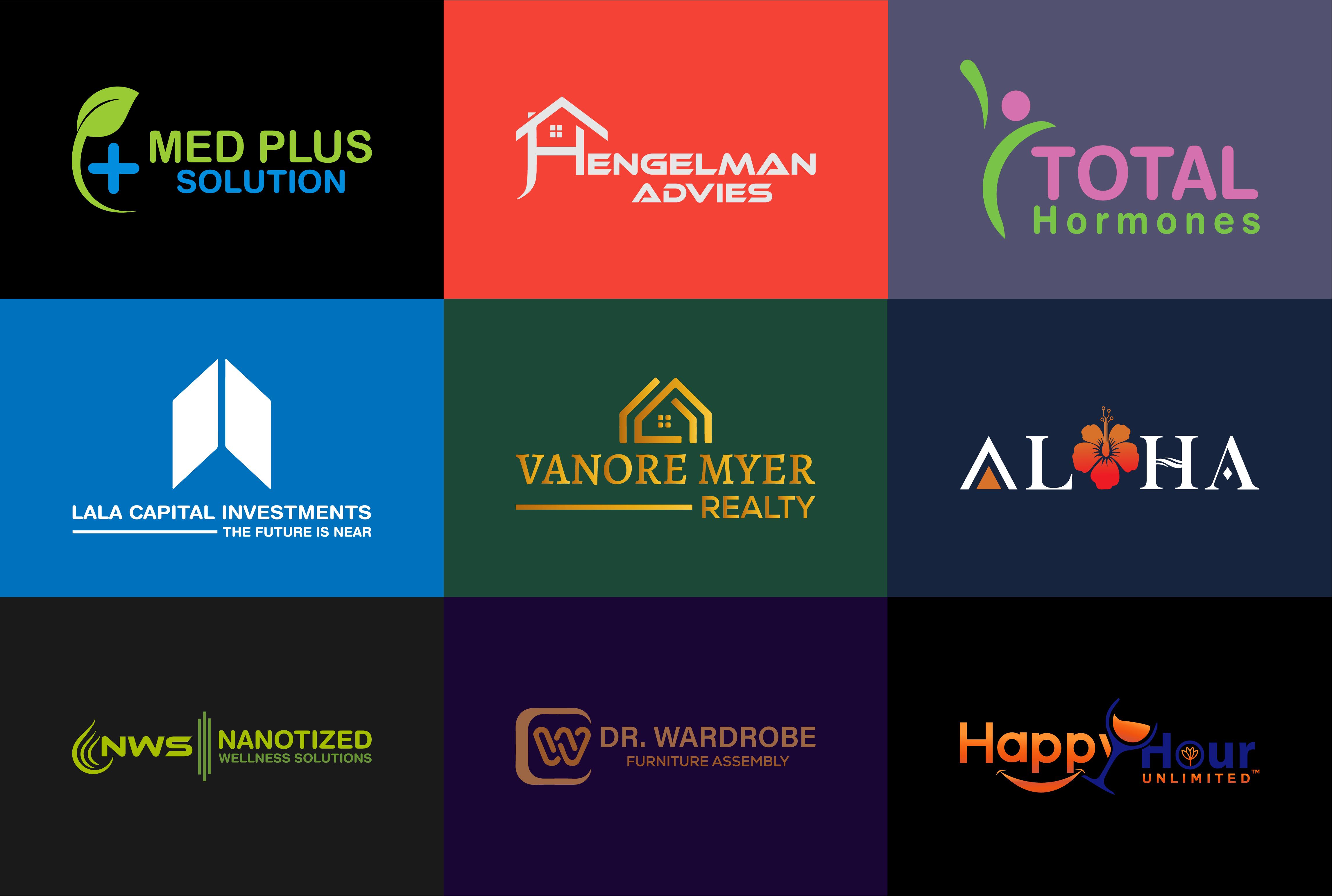 I will design a professional unique modern minimalist logo for business
