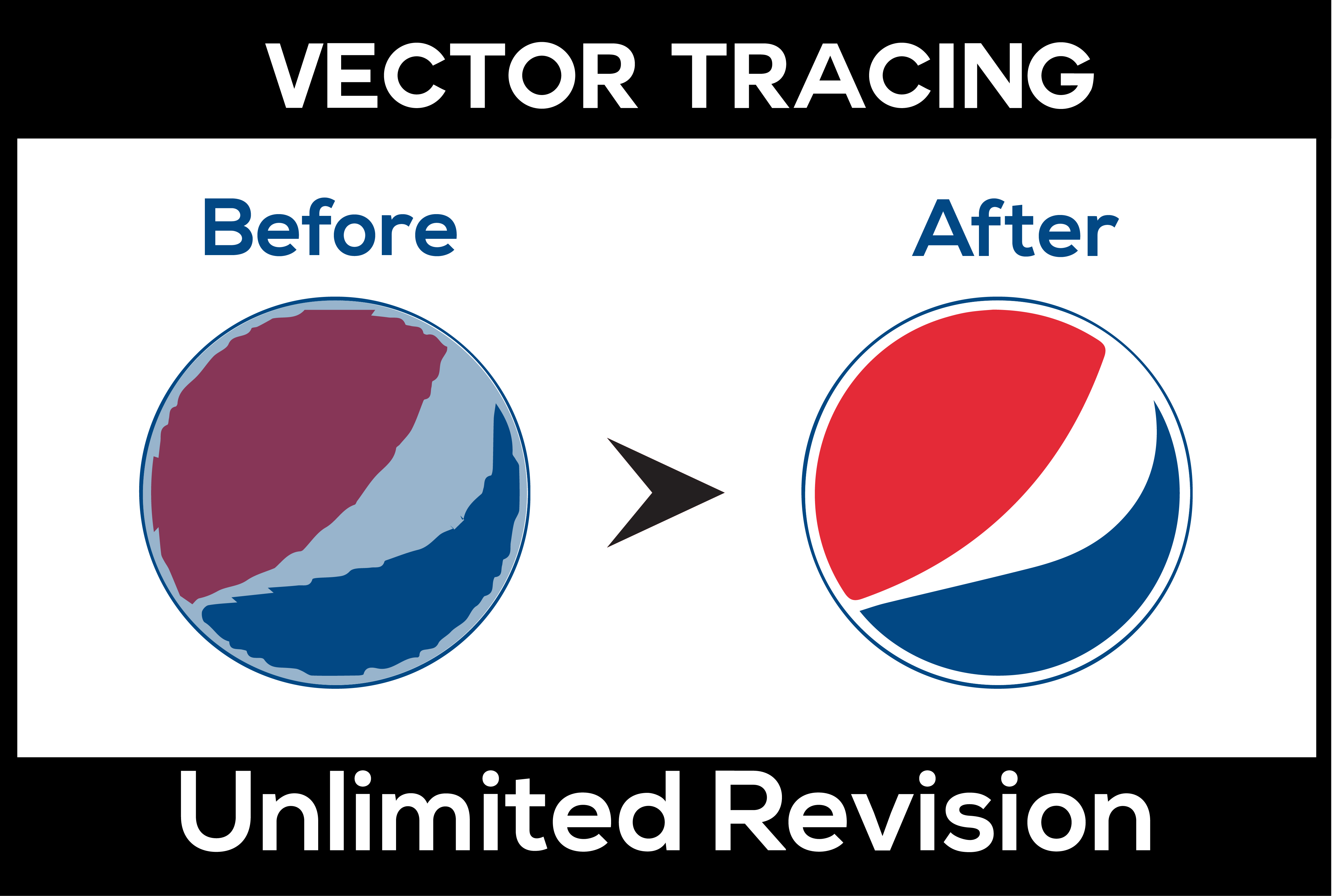 I will manual vector tracing, vectorization, illustration, and image trace