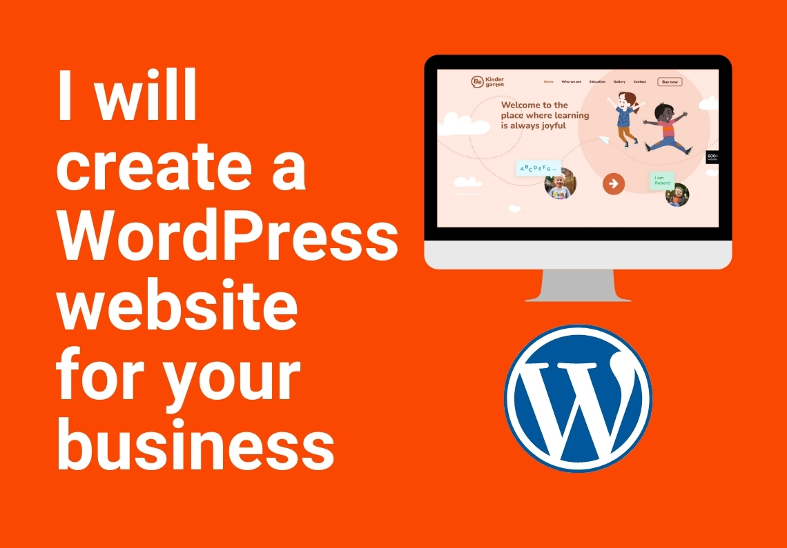 I will create a WordPress website for your business