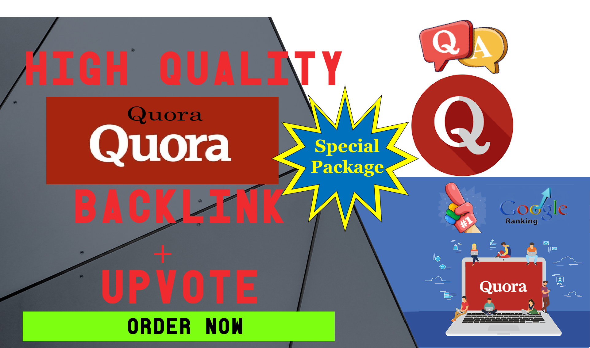 20 Quora Answers+40 Backlinks+25 Upvotes with convenient image