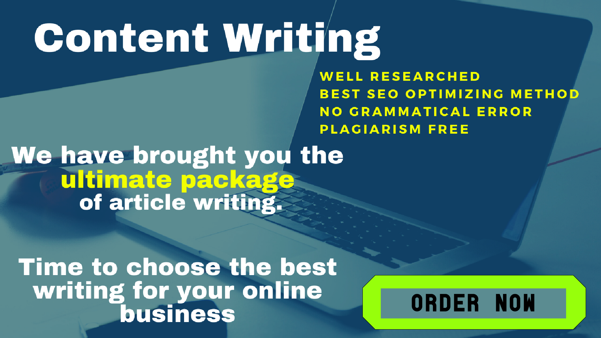 2000 words ultimate package of Content/Article writing