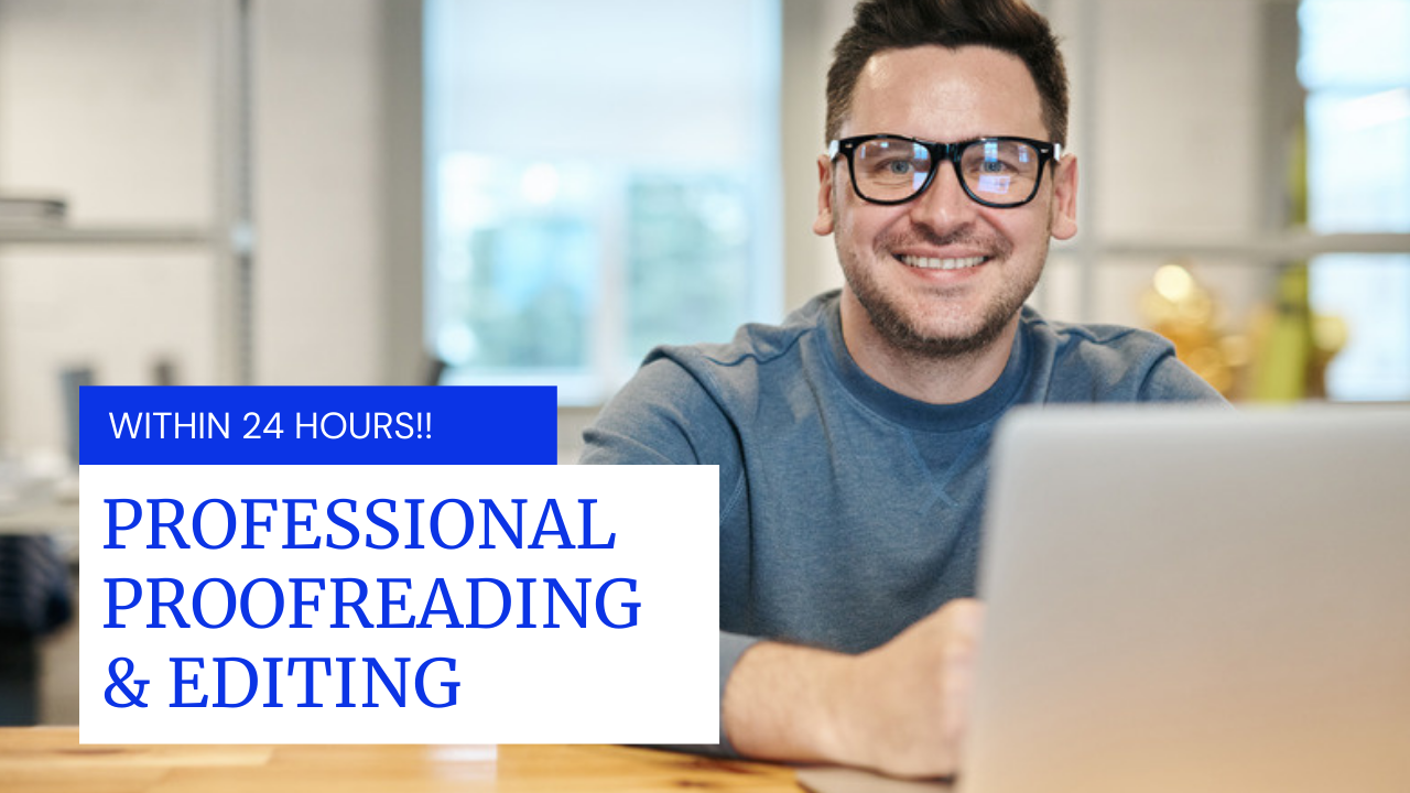 On Demand Professional Proofreading and Editing
