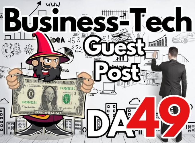 guest post on da 49 business tech blog with dofollow link