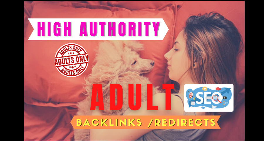 I will create 100 plus high quality adult backlinks for your website ranking