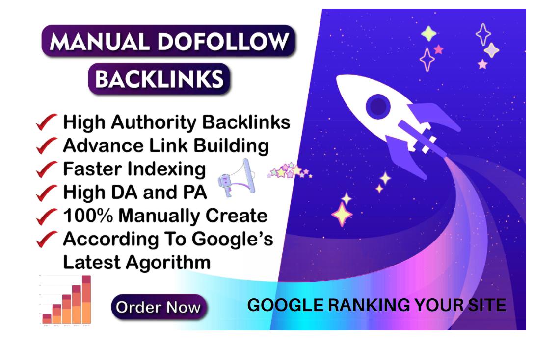 I will Create 120 high da 70+ dofollow backlinks top rank on google