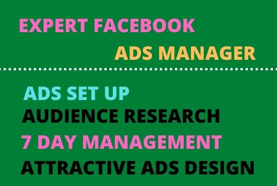 I will set up,  optimize and manage your Facebook ads campaign