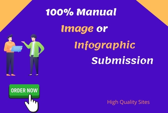 I will do 45 infographics and image submission on high-quality sites