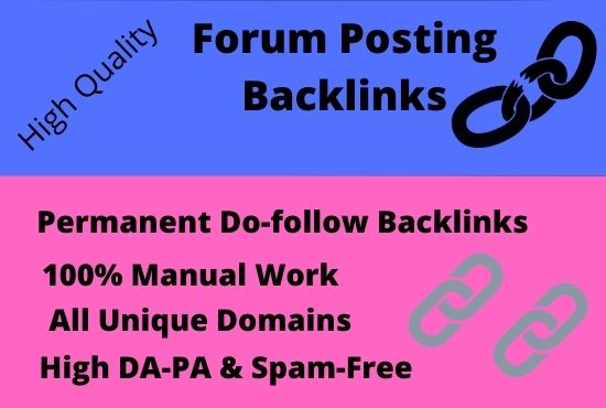 I will create 40 manually high-authority forum posting backlinks