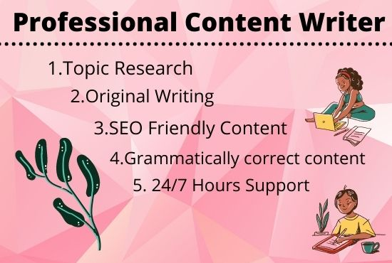 I will write SEO blog posts,  articles,  and website content