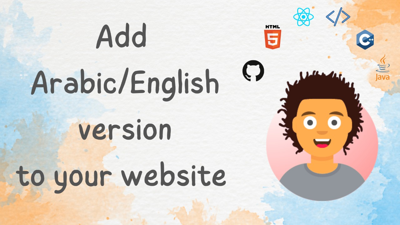Make an Arabic version of your English website