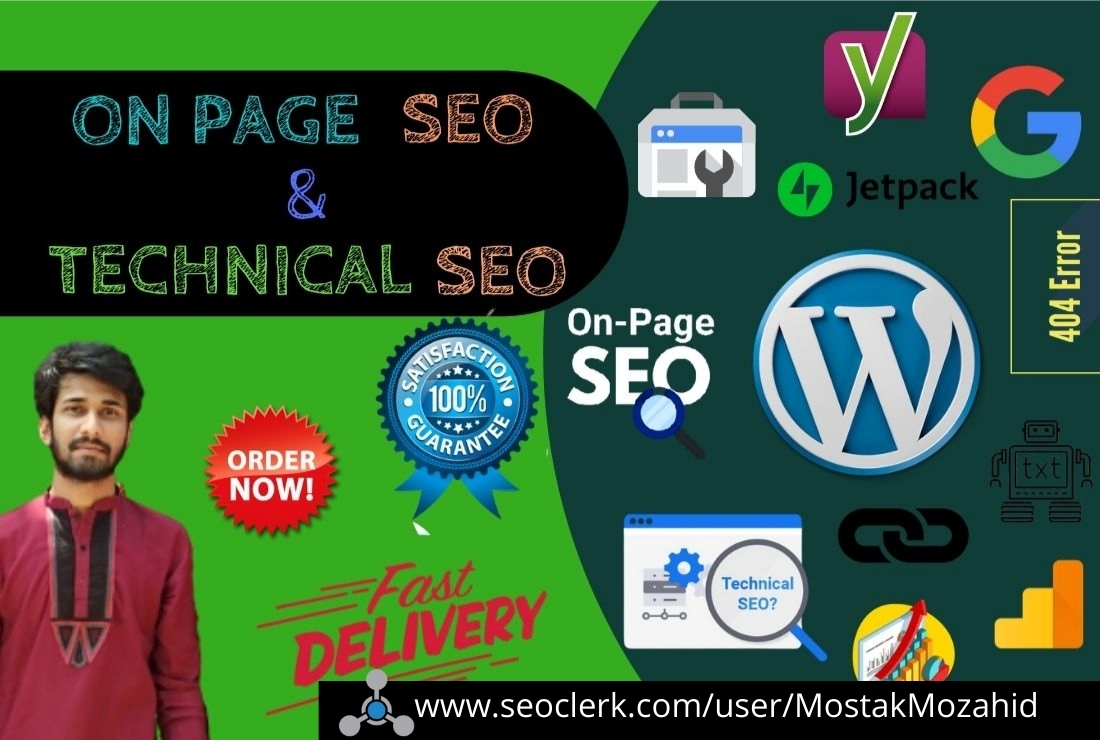 On page and Technical SEO research keyword of WordPress site