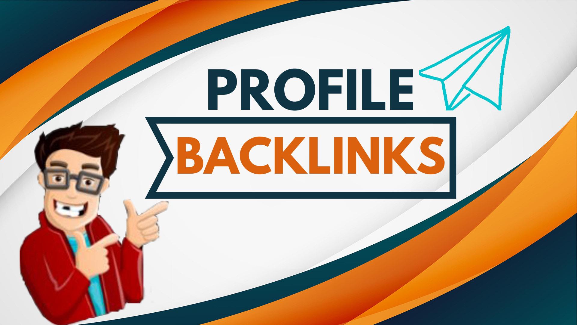 I do manually 50 high DA SEO profile backlinks linkbuilding