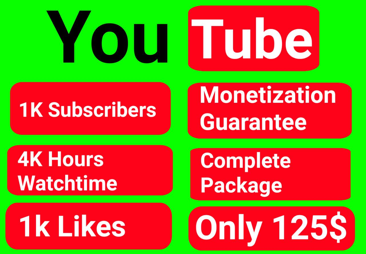 I will do complete youtube monetization requirements