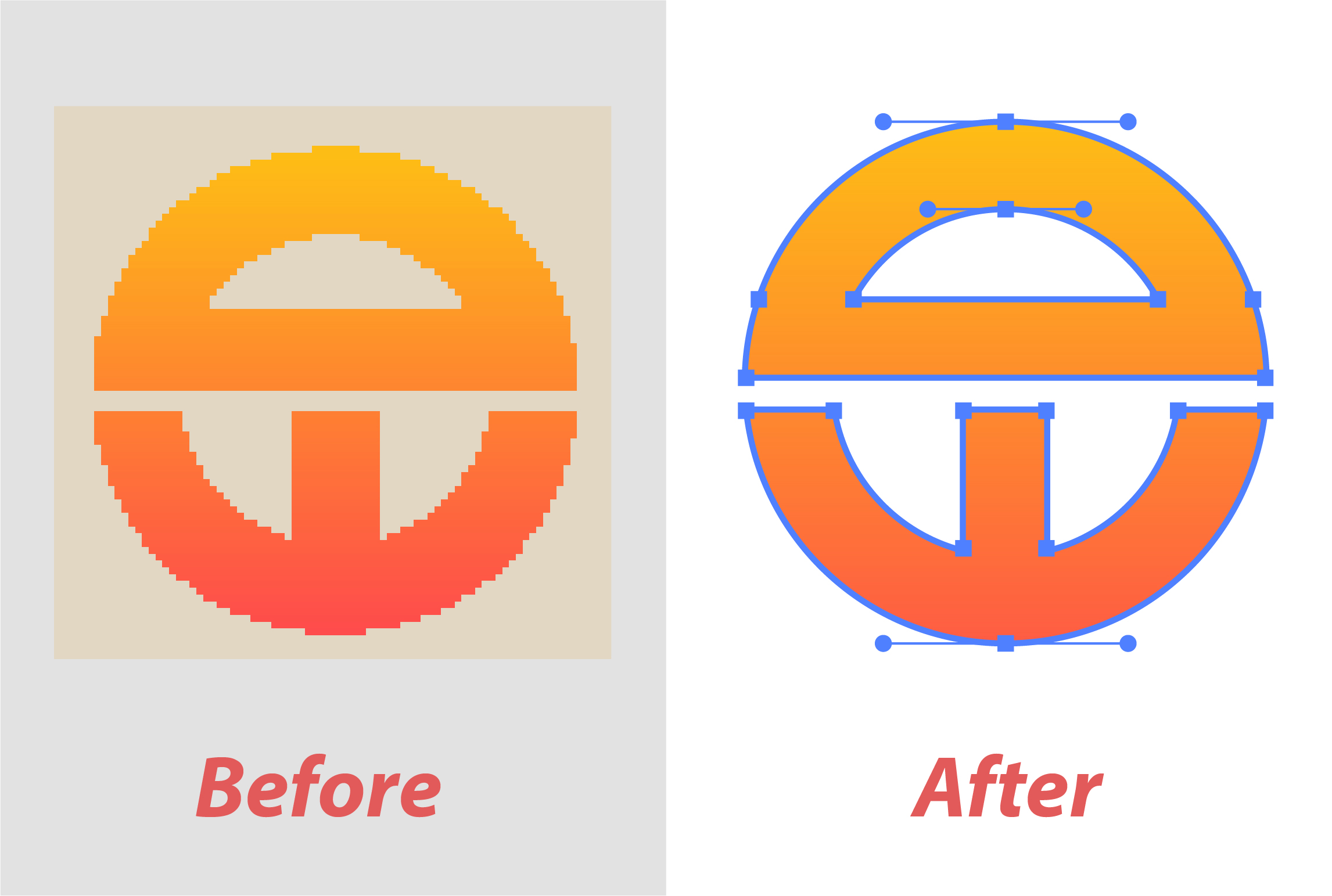 I will manually vectorize,  trace any logo, image to vector