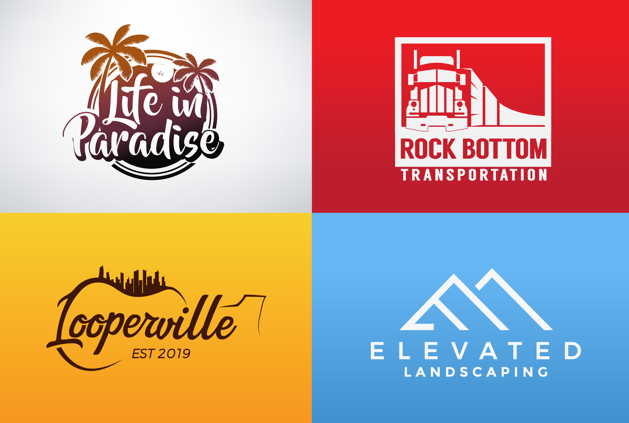I will create a professional minimalist logo design