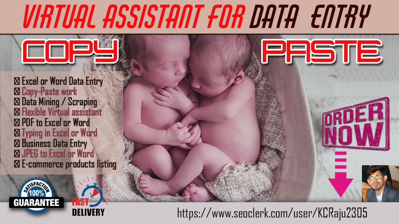 I will provide you Any Types of DATA ENTRY work within 24 hours