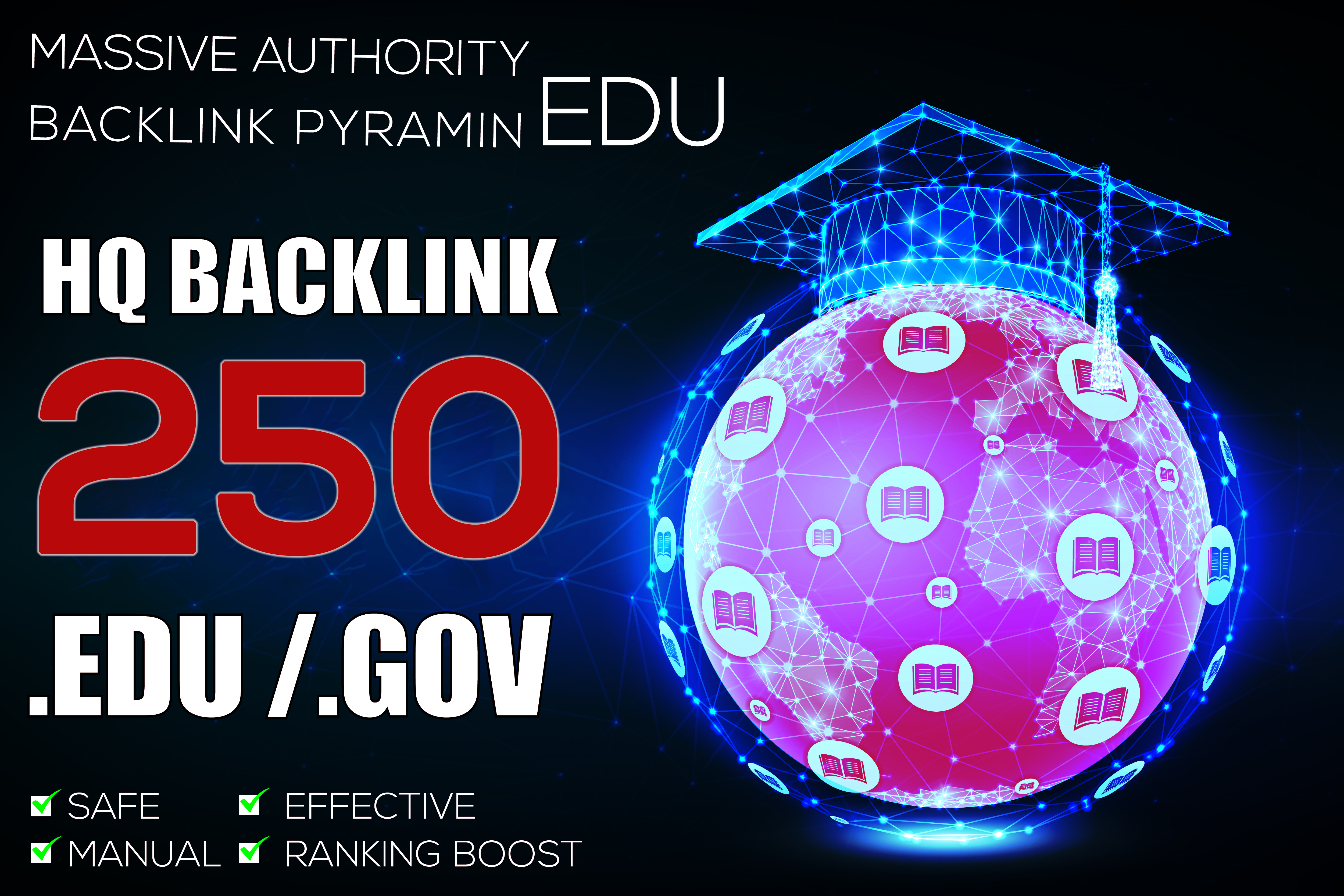 Boost in Google With 250 EDU Massive Authority Backlinks