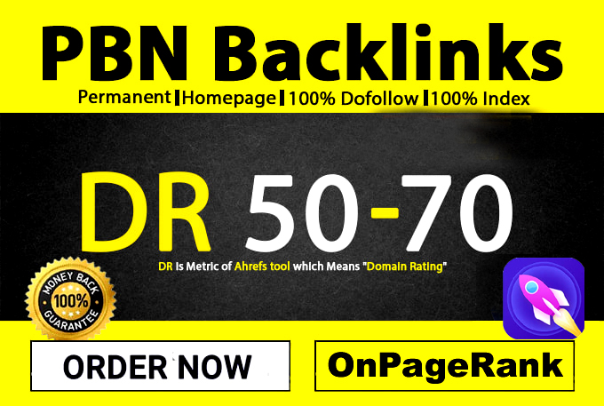 Permanent 60 Homepage High Metrics DA PA TF Dofollow PBN Backlinks Google Top Page