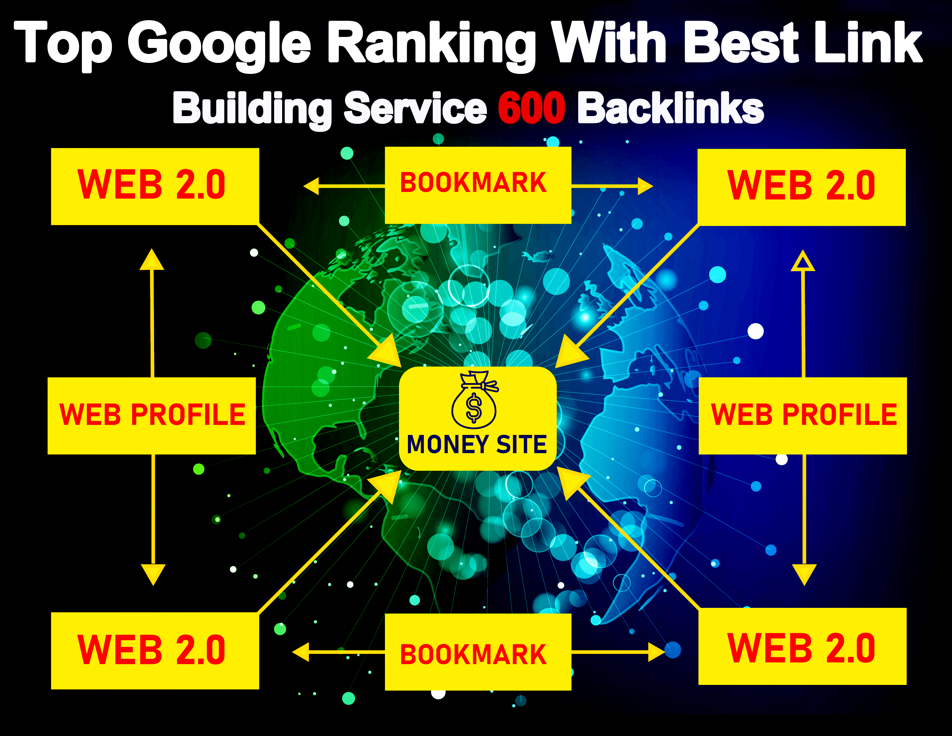 Top Google Ranking With Best Link Building Service 600 Backlinks