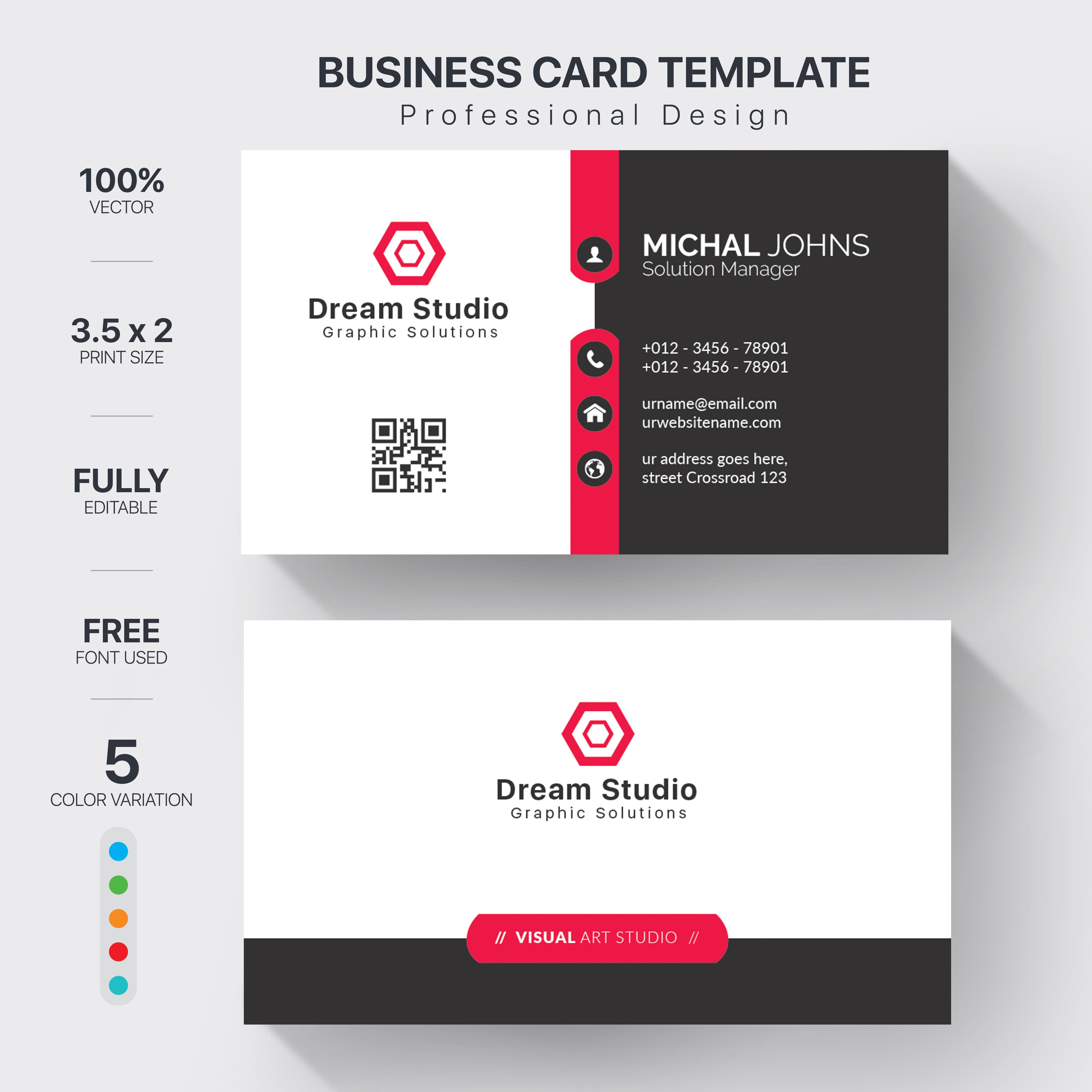 I will design creative & professional business card