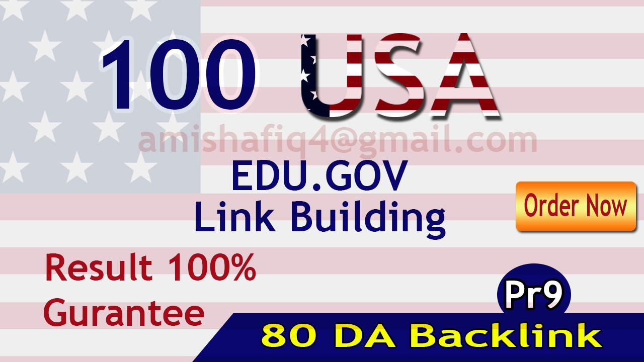 I will provide Premium Quality 80 DA Edu gov Backlinks Quick delivery