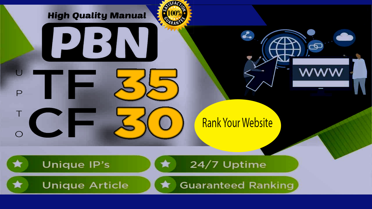I will create 250 high Authority PBN links with high TF 35 CF 30