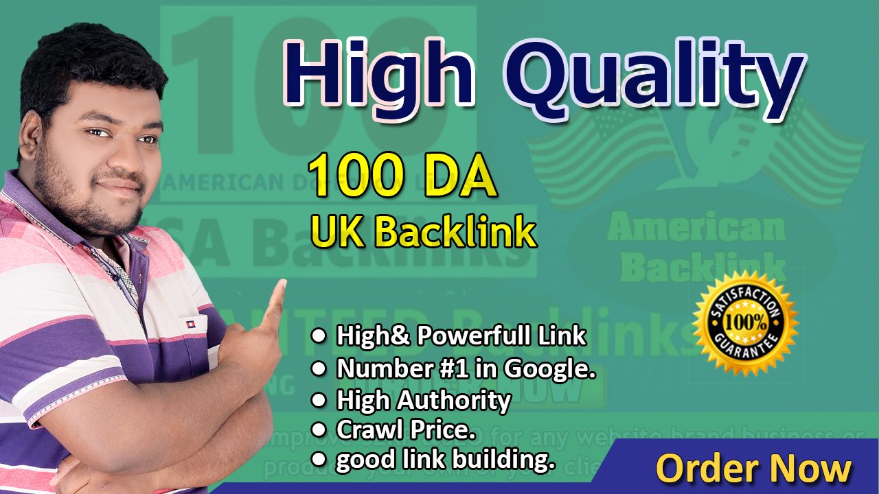 I will Create 100 high quality Contextual SEO UK backlinks high PR and DA DA80-DA95