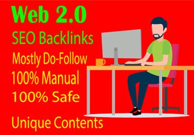 I will build 25 plus web 2.0 do-follow blogs backlinks