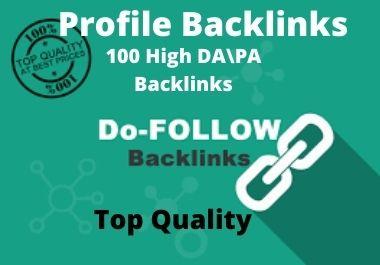 I will Provide 100 create high-quality DA PA profile backlinks