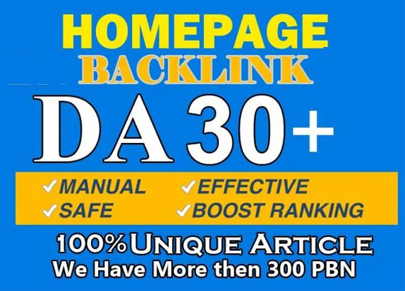 I will give high da pa strong home backlinks for off page seo