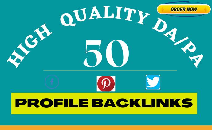 I Will Give You Ultra 50 High DA profile Backlinks