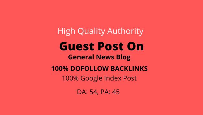 I will publish guest post on da 54 general news blog