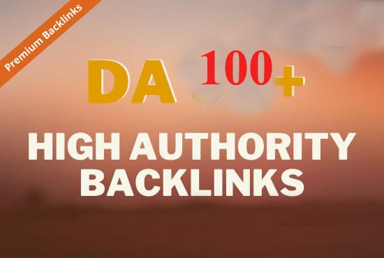 Create da 100 high authority backlinks link building