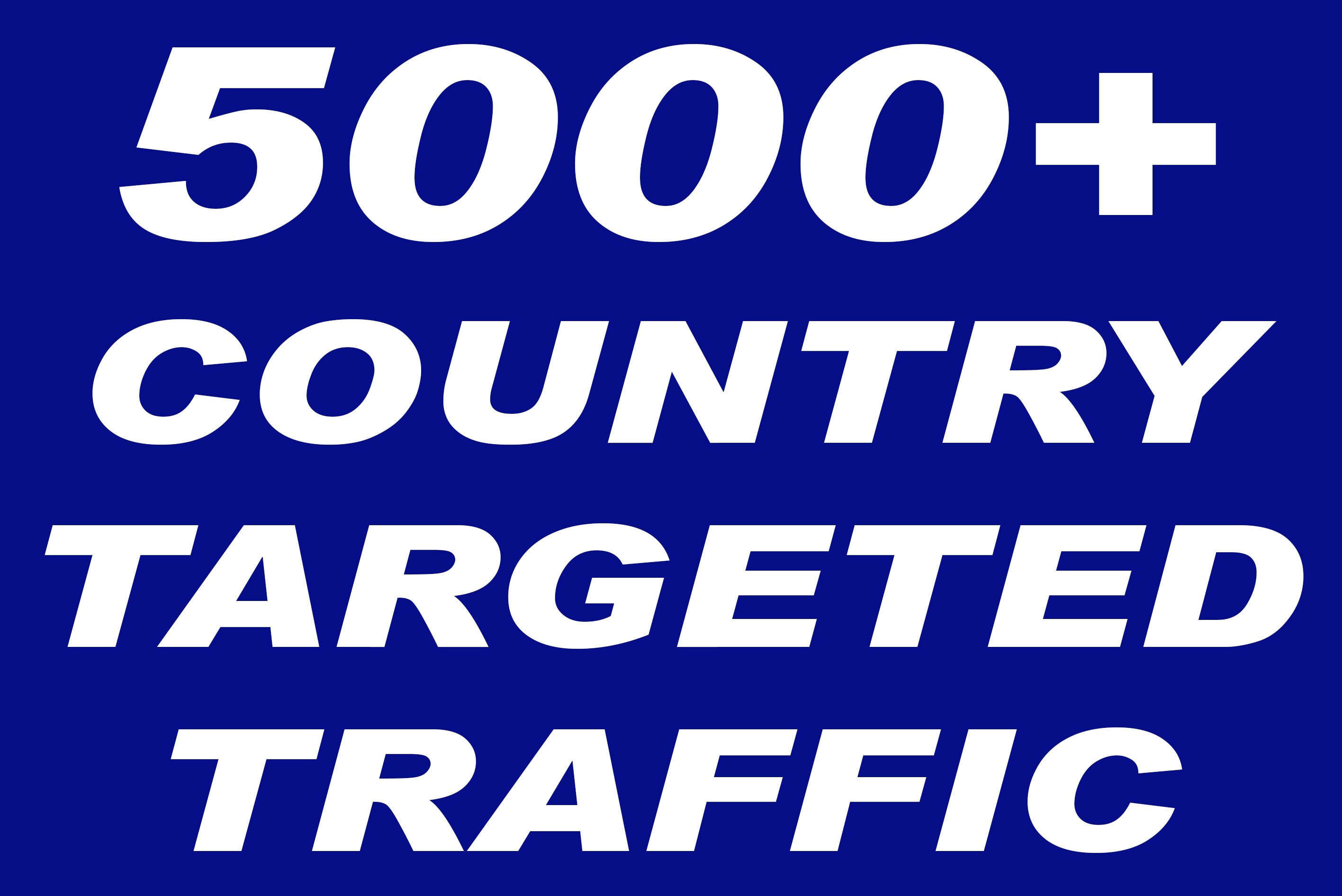 I will send 5000+ quality country targeted traffic