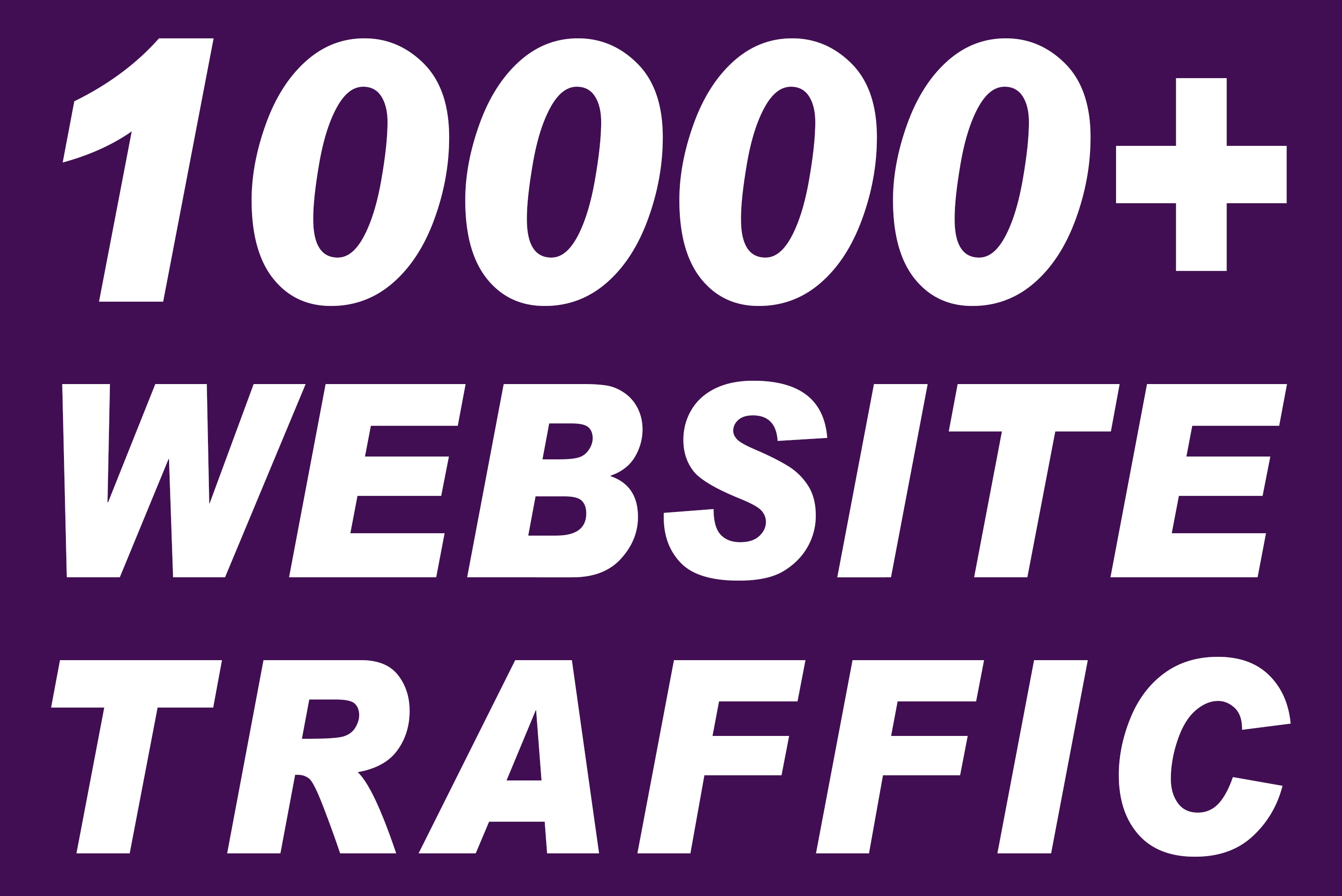 I will send 10000+ real active human visitors from google,  yahoo,  bing etc