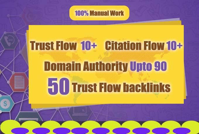 do 50 high authority dofollow trust flow backlinks