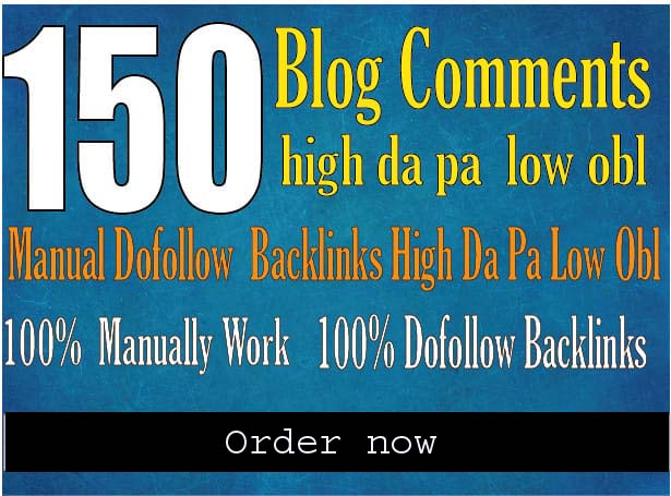 do 150 blog comments backlinks high da pa tf cf
