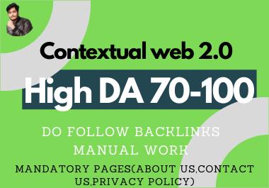 I will do 20 dofollow authority Web 2.0 contextual backlinks