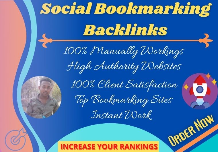 I can do manually 30 Social profile bookmarking backlinks