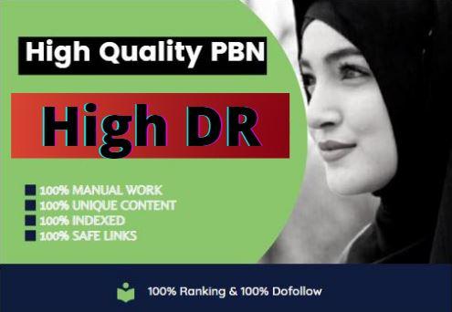 Build 10 High DR Dofollow Homepage PBN Backlink