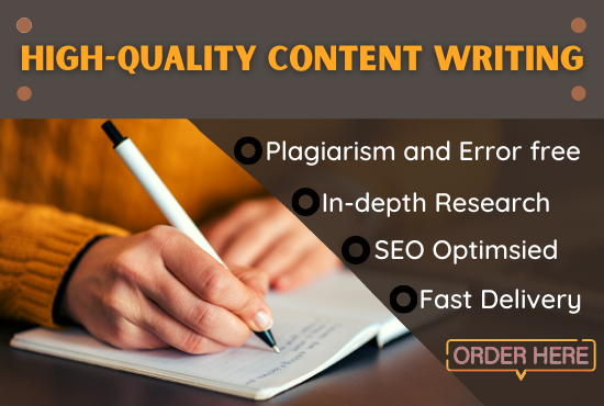 I will write 1500 words SEO optimized content for blog posts and articles