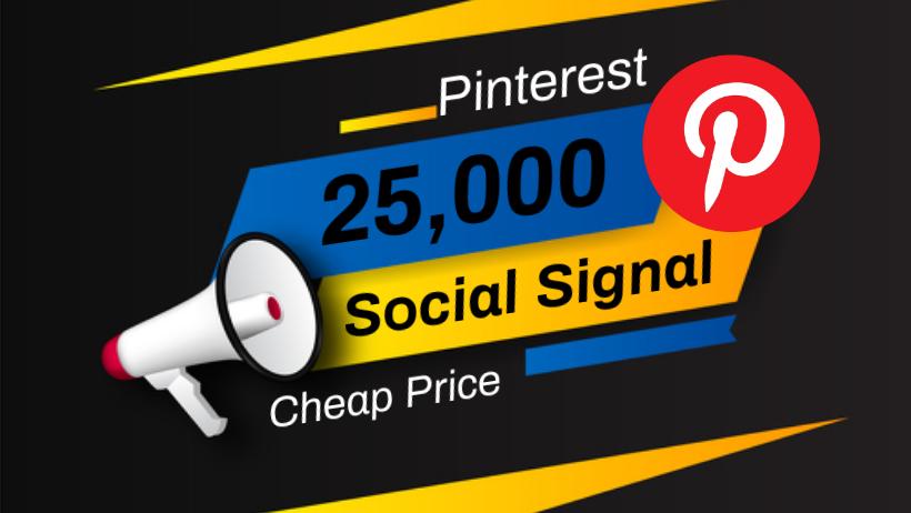 Great Top 1 Powerful Platform 25,000 Pinterest Social Signal Media Backlink Bookmarks Websites